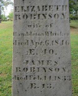 Elizabeth <I>Robinson</I> Whisker
