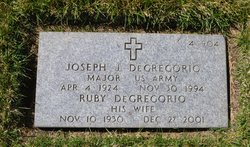 "Maj Joseph James ""Joe"" Degregorio"