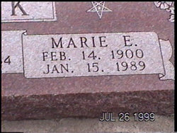 Marie Elizabeth <I>Schwindt</I> Burk