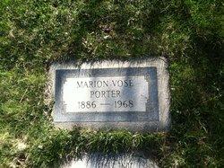 "Marion Abigail ""Mary"" <I>Vose</I> Porter"