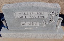 Willie Frances <I>Smith</I> Sanford