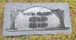 Martha Ada <I>Poole</I> Capps