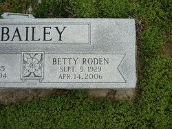 Betty Sue <I>Roden</I> Bailey