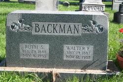 Ruth Helen <I>Schenck</I> Backman