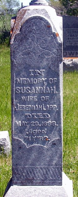 Susannah <I>Merriam</I> Lapp