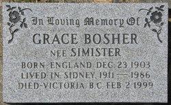 Grace <I>Simister</I> Bosher