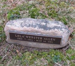 Lela <I>Webster</I> Allen