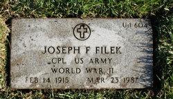 Joseph F Filek