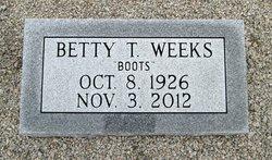 "Betty ""Boots"" <I>Thompson</I> Weeks"