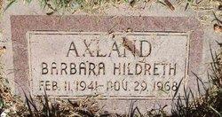 Barbara Fay <I>Hildreth</I> Axland