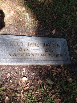 Lucy Jane <I>Searcy</I> Hayden