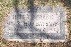 Helen Elizabeth <I>Frank</I> McArthur Bateman