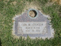 Ida M Atkinson