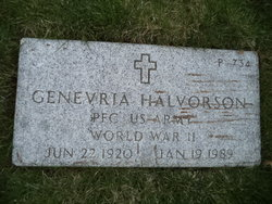 Genevria <I>Foster</I> Halvorson