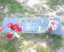 "Martha Ellen ""Mat"" <I>Denson</I> Bowman"