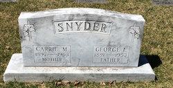 """Caroline Marie """"Carrie"""" <I>Woods</I> Snyder"""