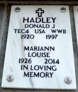 Mariann Louise Hadley