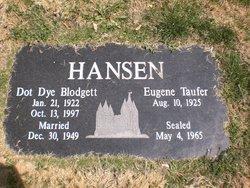 Dot Dye <I>Blodgett</I> Hansen