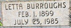 Letta Violet <I>Winschell</I> Burroughs