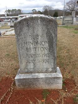 Ruby Gertrude <I>Hindmon</I> Britton