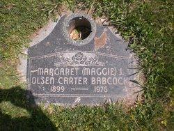 Margaret Vilate <I>Jolley</I> Carter Babcock