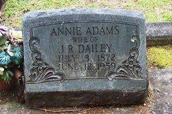 Annie <I>Adams</I> Dailey