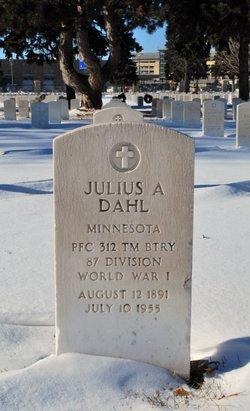PFC Julius A Dahl