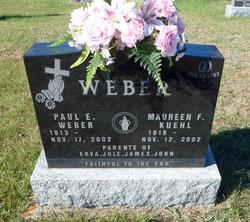 Maureen F <I>Kuehl</I> Weber
