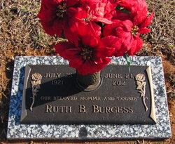 Ruth B <I>Boulware</I> Burgess