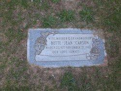 Bette Jean <I>Duncan</I> Carson