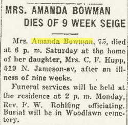 Amanda Virginia <I>Shuler</I> Bowman
