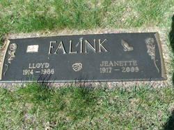 Jeanette Florence <I>Pulver</I> Falink