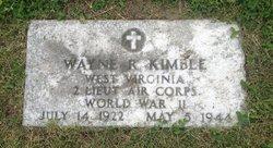 2LT Wayne R. Kimble