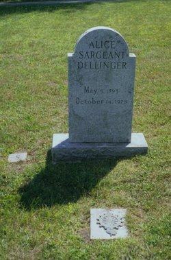 Alice <I>Sargeant</I> Dellinger