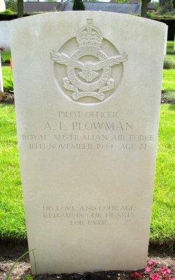 Pilot Officer Arthur Leslie Plowman