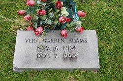 Vera <I>Warren</I> Adams
