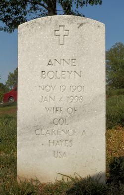 Anne <I>Boleyn</I> Hayes