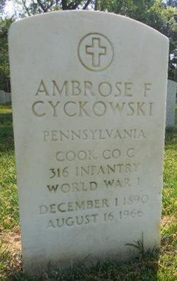 Ambrose F Cyckowski