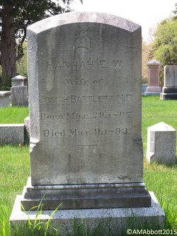 Hannah Eleanor Weeks <I>Thompson</I> Bartlett