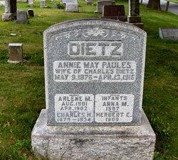 Annie May <I>Paules</I> Dietz