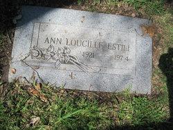 Ann Loucille <I>Self</I> Estill