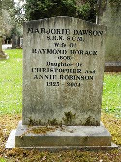 Marjorie <I>Robinson</I> Dawson