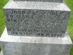 """John Alexander """"Alex"""" Edmison"""