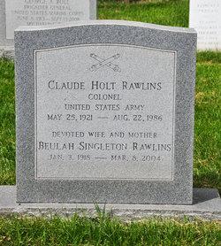 Claude H Rawlins