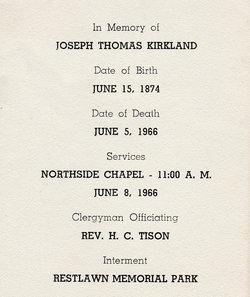 Joseph Thomas Kirkland