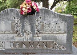 Sadie Mae <I>Johnson</I> Denman