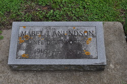 Mabel Inez <I>Devenport</I> Anundson