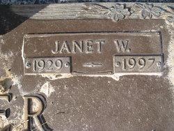 Janet W. Baker