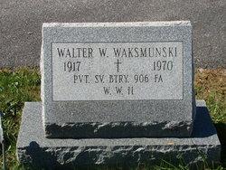 Walter W Waksmunski