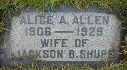 Alice Alalee <I>Allen</I> Shupe